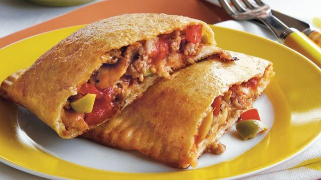 Turkey Sausage Calzones