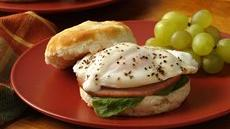 Florentine Ham and Egg Breakfast Biscuits Recipe