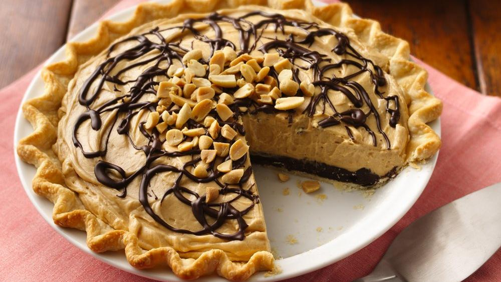 Chocolate-Peanut Butter Truffle Pie recipe from Pillsbury.com