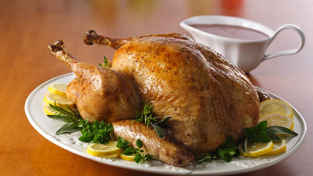 Herb Roasted Turkey with Cranberry Gravy recipe from ...