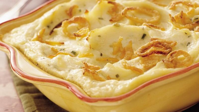 Make-Ahead Sour Cream and Chive Mashed Potatoes