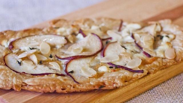 Pear Almond Flatbread