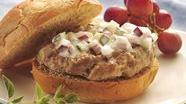 Greek Turkey Burgers with Yogurt Sauce