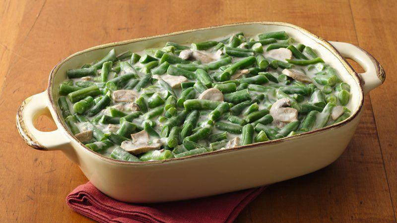 Skinny Green Bean Casserole recipe from Betty Crocker