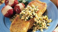 Halibut with Corn and Lime-Cilantro Butter Recipe