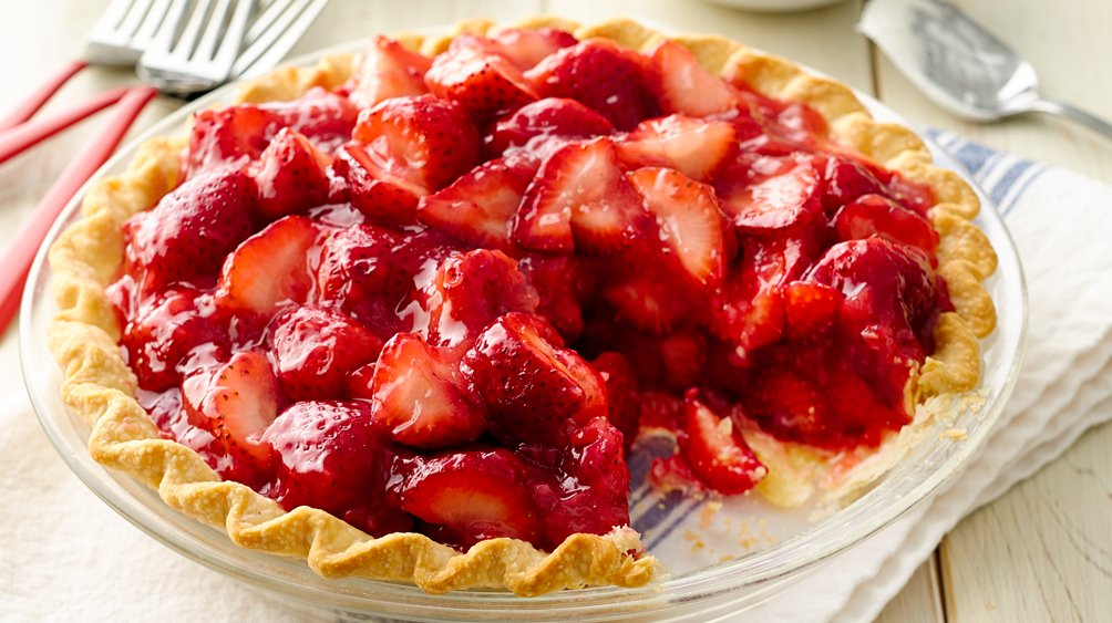 Fresh+Strawberry+Pie Fresh Strawberry Pie recipe from Pillsbury.com