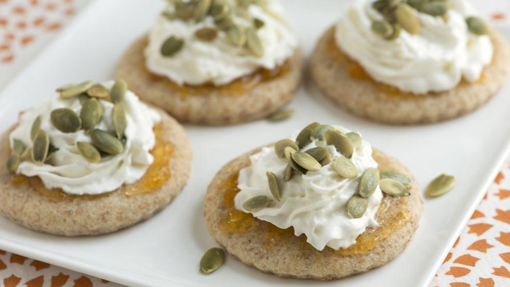 Individual Apricot and Cream Flatbreads