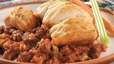 Biscuits and Sloppy Joe Casserole Recipe