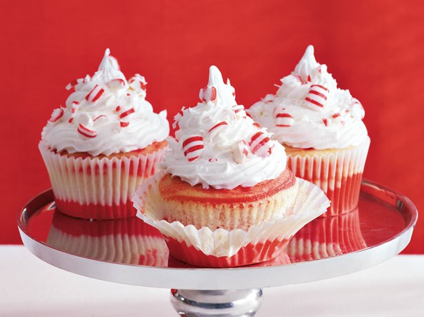 Swirled Candy Cane Cupcakes