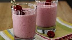 Greek Yogurt-Raspberry Smoothies