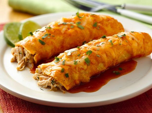 Creamy Key Lime Chicken Enchiladas