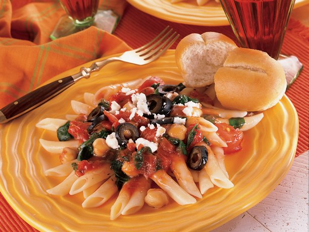 Mediterranean Penne Pasta and Beans