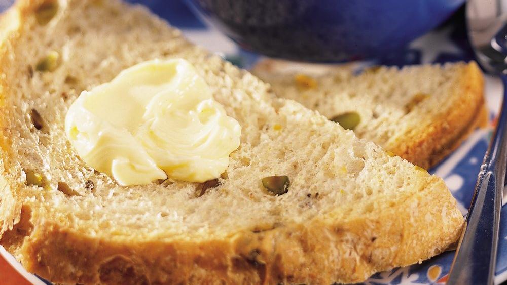 Bread Machine Pistachio-Olive Bread
