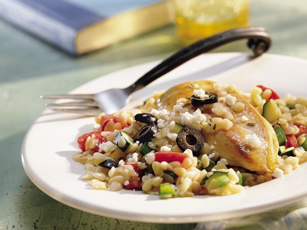 Mediterranean Chicken and Orzo