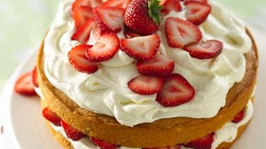 Strawberry and White Chocolate Buttercream Cake