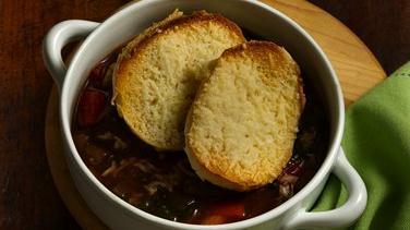 Easy Italian Vegetable Soup au Gratin