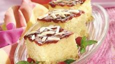 Raspberry Almond Cream Cake Recipe