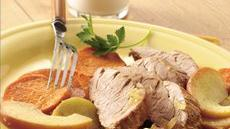 Roast Pork with Apples and Sweet Potatoes Recipe