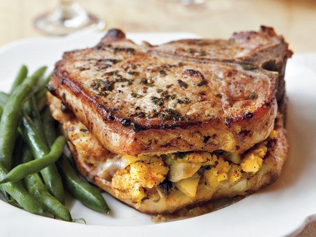 Cornbread-Stuffed Pork Chops recipe from Betty Crocker