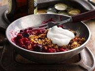 Raspberry-Cherry Lambic Crisp recipe from Betty Crocker