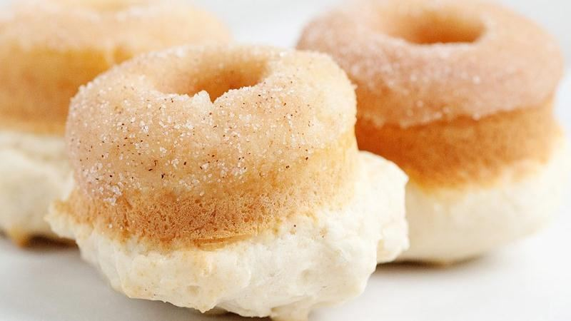Baked Cinnamon Sugar Doughnuts recipe from Betty Crocker