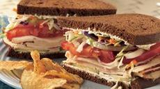 Chicken, Vegetable and Cream Cheese Sandwiches Recipe
