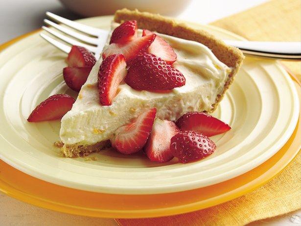 Strawberry-Topped Orange Cream Pie recipe from Betty Crocker