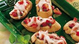 Roasted Pepper-Tomato Crostini