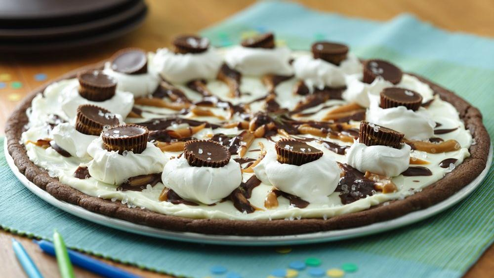 Chocolate Peanut Butter Cookie Pizza recipe from Pillsbury.com