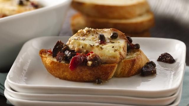 Baked Goat Cheese Crostinis