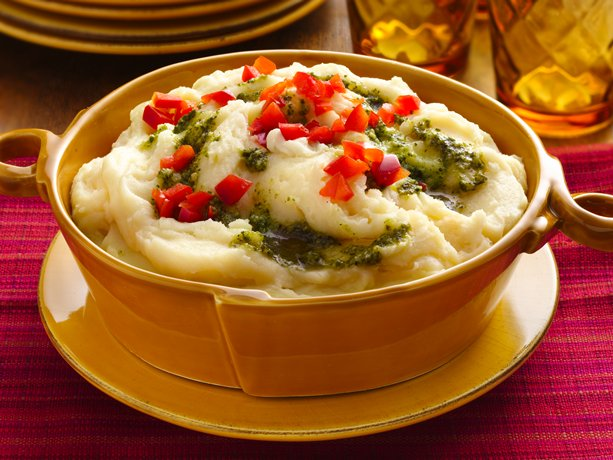 Image of Asiago-pesto Mashed Potatoes, Betty Crocker