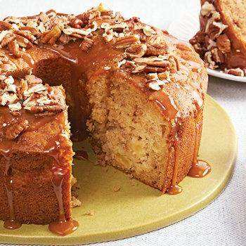 Warm Caramel Apple Cake recipe from Betty Crocker
