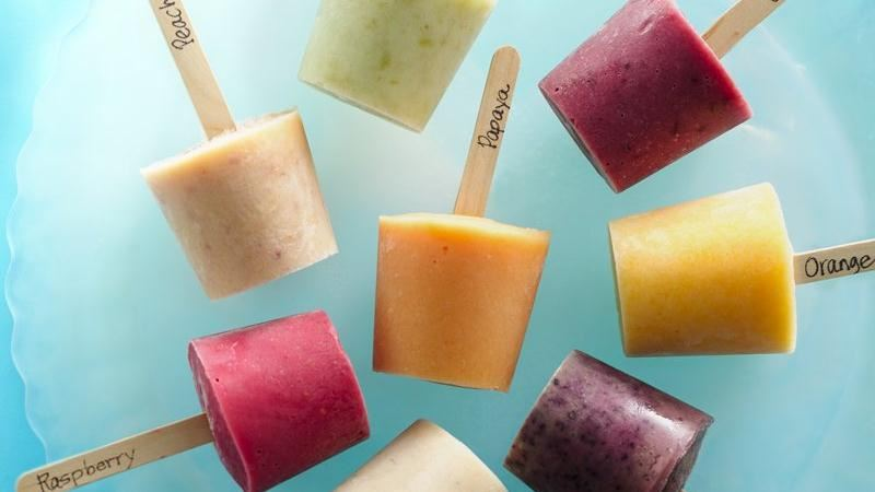 Fresh Fruit Frozen Yogurt Pops recipe from Betty Crocker