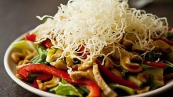 Asian-Style Cashew Chicken Salad with Sesame Soy Vinaigrette