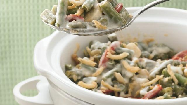 Slow Cooker Alfredo Green Bean Casserole