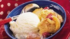 Fresh Peach and Raspberry Cobbler Recipe