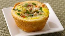 Muffuletta Quiche Cups  Recipe