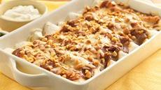 Peanut Butter Mole Enchiladas Recipe