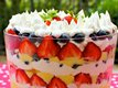 Simple Berry and Vanilla Cream Trifle