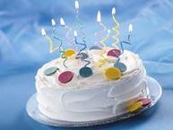 Spiral Candle Cake