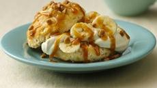 Banana-Cream Toffee Shortcakes Recipe