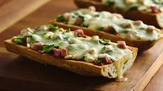 Spinach and Ham French Bread Pizza Recipe
