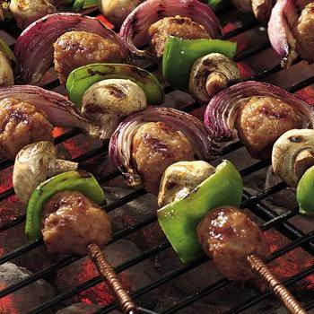 Sweet and Sour Grilled Swordfish Kabobs recipe from Betty Crocker