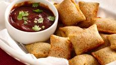 Spicy Barbecue Dip and Pizza Rolls Recipe