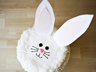 Bunny Cake with Fluffy Coconut Frosting