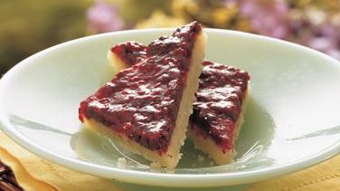 Chocolate Raspberry Triangles