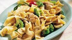 Pork, Broccoli and Noodle Skillet Recipe