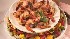 Cilantro-Marinated Shrimp with Fruit Recipe