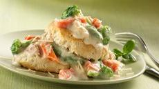 Alfredo Tuna Over Biscuits Recipe