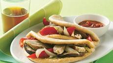 Chicken and Roasted Vegetable Foldover Sandwiches Recipe